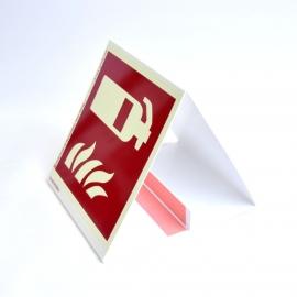 Znak 12 Gaśnica PF na maszt stojaka 150x150