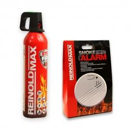 Spray gaśniczy pianowy REINOLDMAX 750ml + Czujka dymu RM