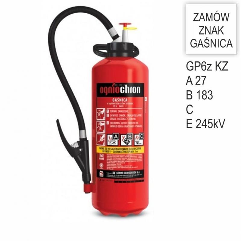Gaśnica proszkowa GP-6z ABCE /K