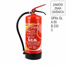 Gaśnica proszkowa GP-6x ABC GL GX