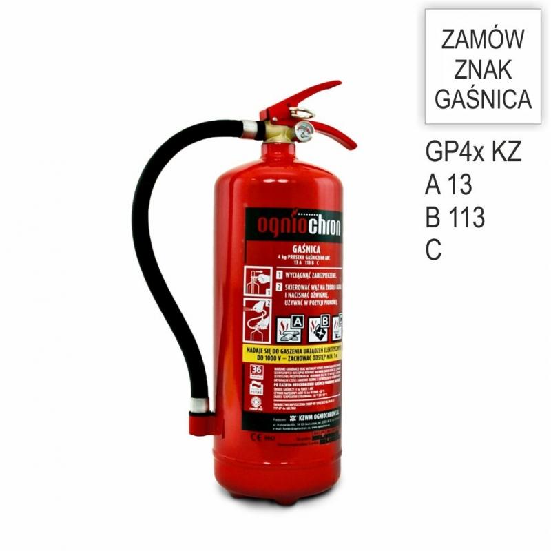Gaśnica proszkowa GP-4x ABC /KZ