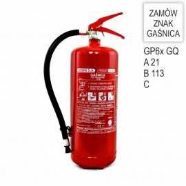 Gaśnica proszkowa GP-6x ABC /GQ