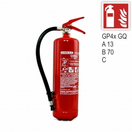 Zestaw Gaśnica GP-4x ABC GZWM + znak ISO