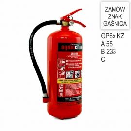 Zestaw Gaśnica GP-6x ABC KZWM + znak