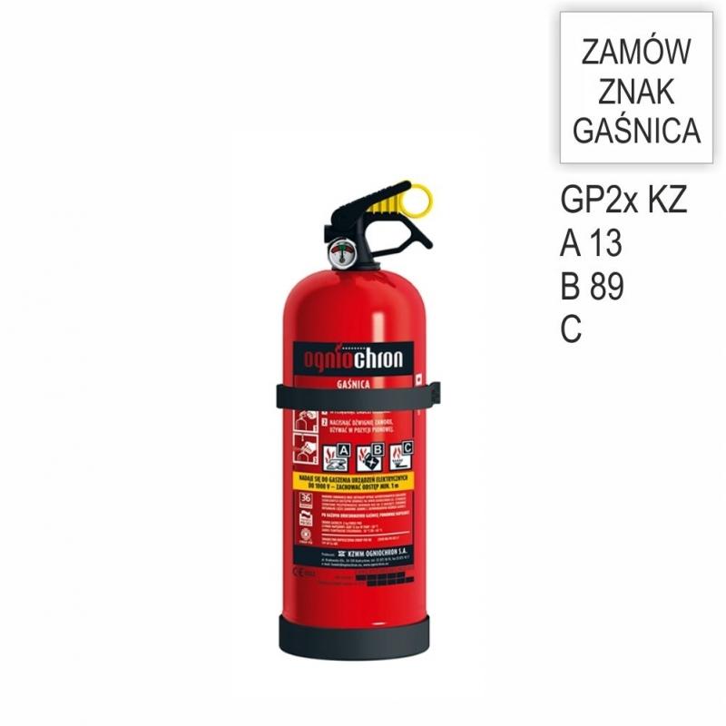 Gaśnica proszkowa GP- 2x PM ABC /KZ