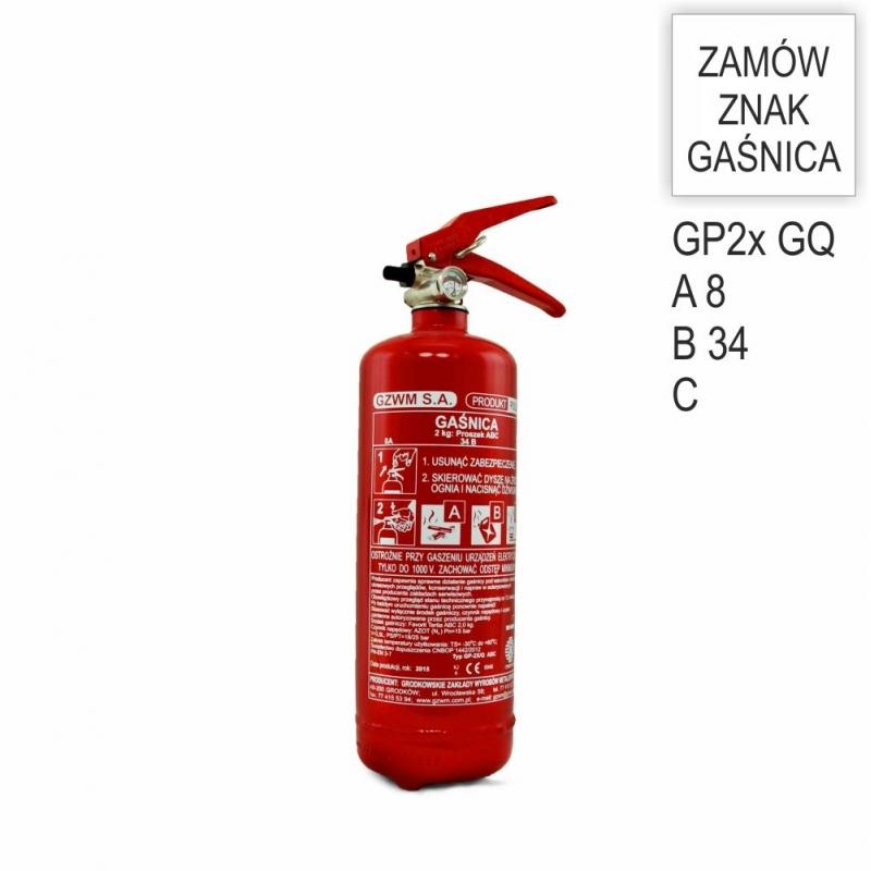 Gaśnica proszkowa GP- 2x ABC /GQ