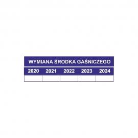 Etykieta Data wymiany środka gaśniczego