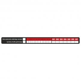 Etykieta Data wykonania remontu / wymiany środka gaśniczego R/B