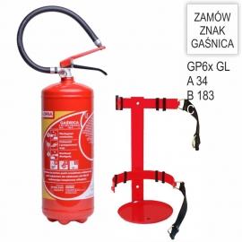 Zestaw Gaśnica proszkowa GP- 6x ABC GL + wieszak KOMBAJN