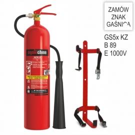 Zestaw Gaśnica śniegowa GS-5x B KZWM + wieszak