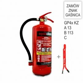 Zestaw Gaśnica GP-4X ABC KZWM + wieszak
