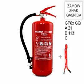 Zestaw Gaśnica GP-6x ABC GZWM + wieszak