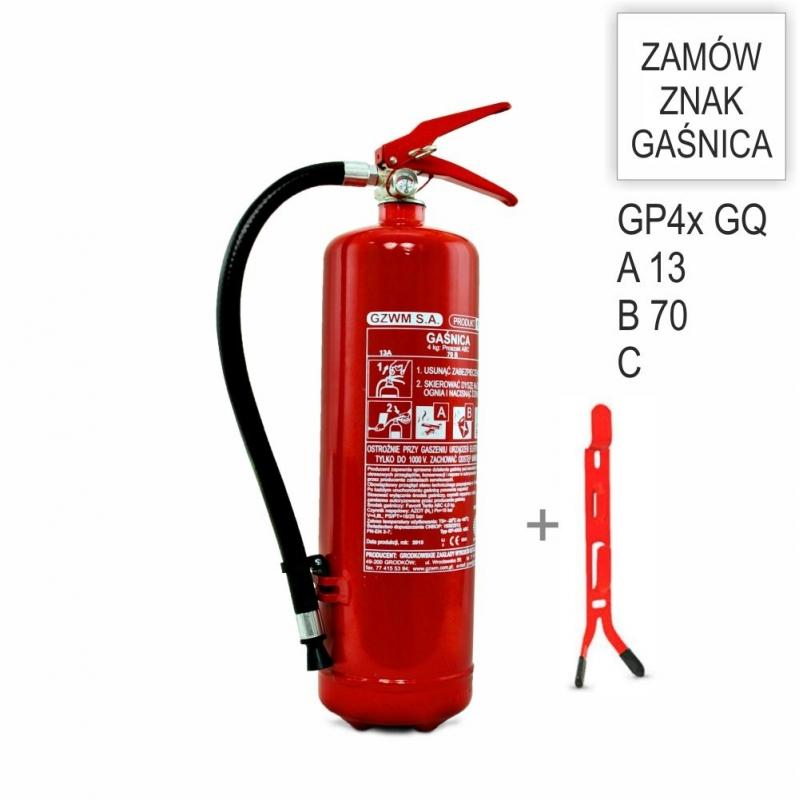 Zestaw Gaśnica GP-4x ABC GZWM + wieszak