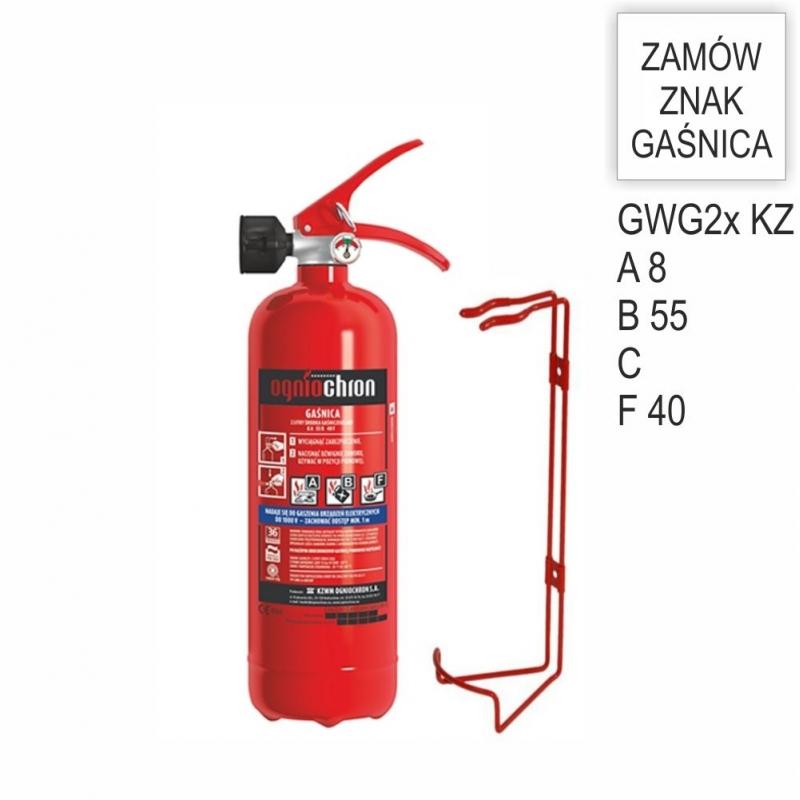 Zestaw Gaśnica płynowa 2x AF KZ + wieszak