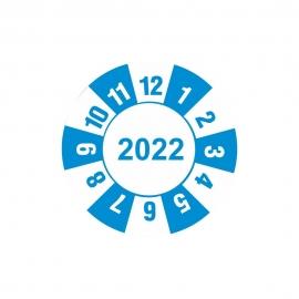 Etykieta kontrolka kółko z datą 2022 folia