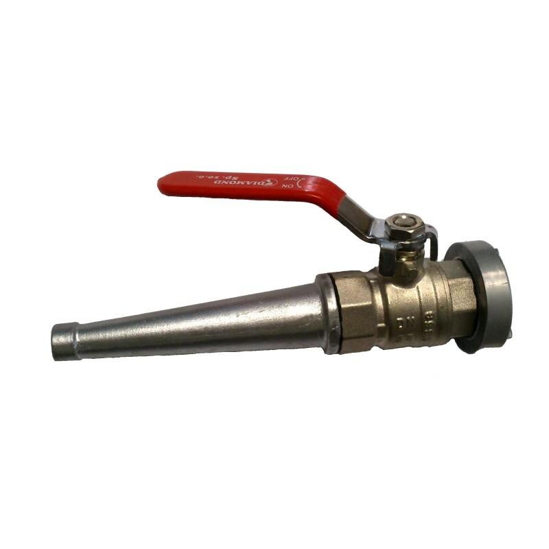 Prądownica hydrantowa 25 z zaworem kulowym SB