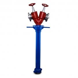 Stojak hydrantowy DN  80 2x75 B/BB z nasadami