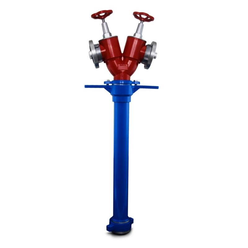 Stojak hydrantowy DN  80 2x52 B/CC z nasadami